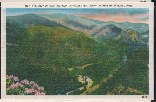 Linen colour PC Highway Loop Great Smoky Mountains National Park unused