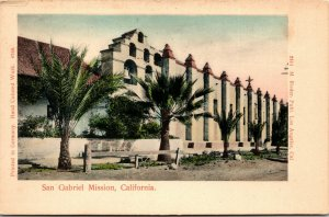 San Gabriel Mission, CA - vintage - POSTCARD - PC - California