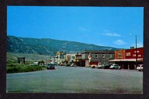 MT Main St Cafe Texaco Sign GARDINER MONTANA Postcard