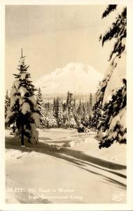 OR - Mt Hood in Winter from Government Camp.   *RPPC