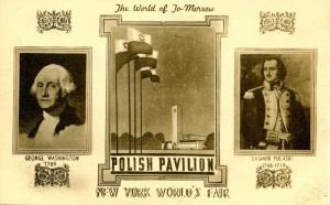 NY - 1939 New York World's Fair. Polish Pavilion, The World of Tomorrow Exhibit