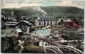 Chester, WV Postcard Panorama View of Rock Springs Park w/ 1909 Cancel