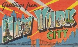 Large Letter Greetings ; NEW YORK CITY , New York, 30-40s