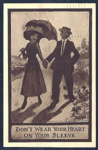 Don't Wear Your Heart . . . Couple Walking used c1909