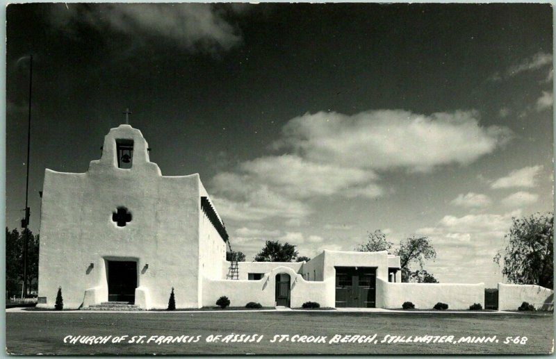Stillwater, Minnesota RPPC Photo Postcard Church of St. Francis of Assisi