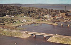 Aerial View, Birdges, WAUBAUSHENE, Ontario, Canada, PU-1970