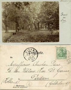 france, STRASBOURG STRASSBURG, Alsace, Parc de l'Orangerie (1903) RPPC