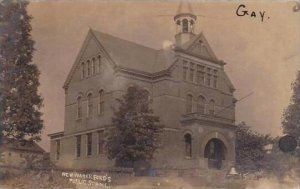 Pennsylvania Newwaterford Public School 1907 Real Photo RPPC