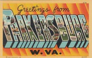 Large Letter PARKERSBURG West Virginia , 30-40s