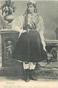 AK GAILTAL GAILTALERIN Tracht Costumi folk costume austrian type ethnic Austria