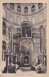 Interior, Saint Sepulcre, Jerusalem, Israel, 1910-1920s