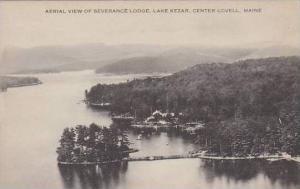 Maine Center Lovell Aerial View Of Severance Lodge Lake Kezar Artvue