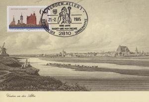 Verden An Der Aller 1985 Postmark German Germany First Day Cover Stamp Postcard