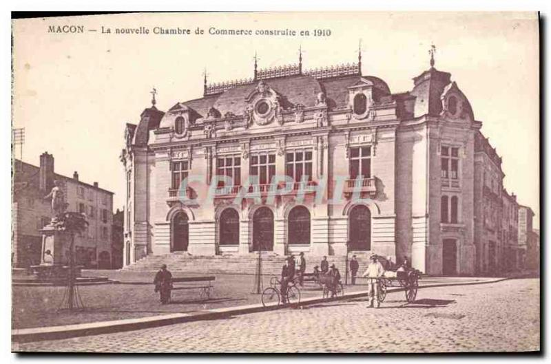 Postcard Old New Macon Chamber of Commersee