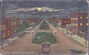 Crowley LA - Parkerson Avenue at night 1900s