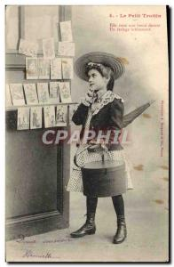 Old Postcard Business Cards The Little Children Trottin
