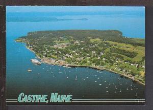 Bird's Eye View Castine ME Postcard BIN