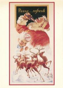 Coca Cola Santa Claus Advertisement - Travel Refreshed - Artist Haddon Sundblom