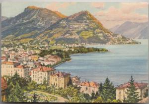 Lugano, Monte Bre e Boglia, 1964 used Postcard