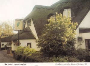 Potters Heron Pub Ampfield Hampshire Postcard