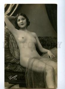 129029 NUDE Woman BELLE vintage Real PHOTO CORONA #176 PC