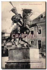 Postcard Old Army Luneville Statue of General Lasalle Horse Horse