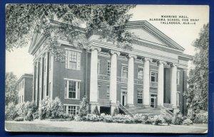 Talladega Alabama al School for Deaf Manning Hall old postcard