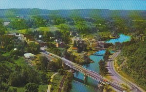 Canada Birds Eye View of Burk's Falls Ontario
