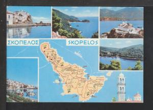 Map,Skopelos,Greece Postcard