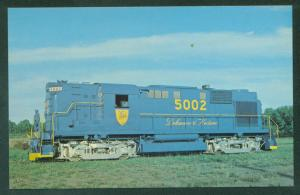 Delaware and Hudson 5002 Alco RS-11 Voorheesville NY Train Railroad Postcard