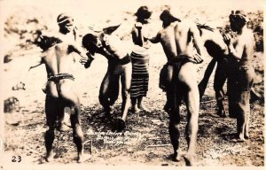 Baguio Philippines Native Dancers Real Photo Vintage Postcard AA19854