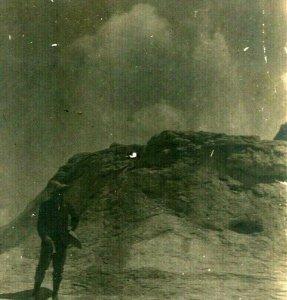 Vtg Cartolina RPPC 1900s Yellowstone National Park Castello Geyser Unp