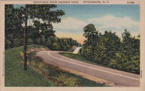 New York Greetings From Taconic Trail Petersburg Curteich