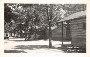 E43/ Spearfish South Dakota SD Postcard Real Photo RPPC c40s Kamp Kool Cabins