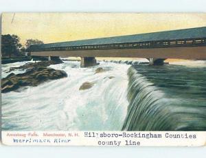 Pre-1907 BRIDGE Manchester New Hampshire NH A3458
