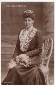 HM Queen Alexandra The Queen Mother PPC, Carmarthen 1912 PMK By EAS