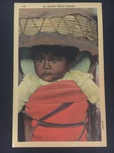 Mint NM USA Picture Postcard Native American Indian Apache Papoose Baby