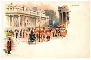 England London ,   Royal Exchange,Bank of England, Bank Beadle,   Tuck's...