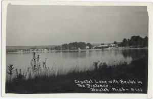 RPPC of Crystal Lake with Beulah in Distance, Beulah Michigan MI