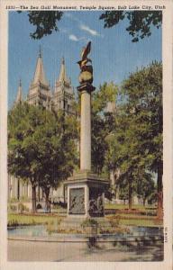 The Sea Gull Monument Temple Square Salt Lake City Utah 1956