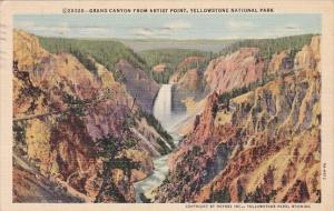 Wyoming Yellowstone National Park Grand Canyon From Artist Point 1941