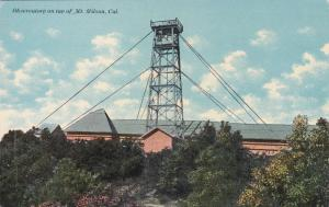 Observatory on top of MT. WILSON , California , 1900-10s
