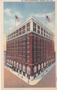 Missouri Kansas City Hotel Muehlebach Curteich