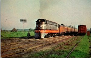 Postcard~Milwaukee Road~Steam Locomotive~Railroad~Vintage~A22