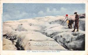 Camera Crevasses on Sperry Glacier Montana, USA Unused very light crease bott...