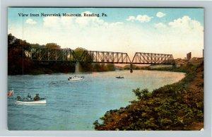 Reading PA-Pennsylvania Around Neversink Mountain, Bridge, Vintage Postcard
