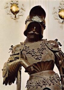 Innsbruck Tirol Hofkirche, Bronzestatue Theoderich, Koenig der Ostgoten