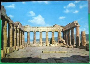 Greece Athens Interior the Parthenon - posted 1970