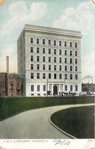 Toledo Ohio~Curve Drive Near YMCA Building~1910 Postcard