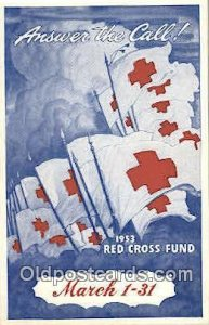 1953 Fund Campaign Red Cross Unused